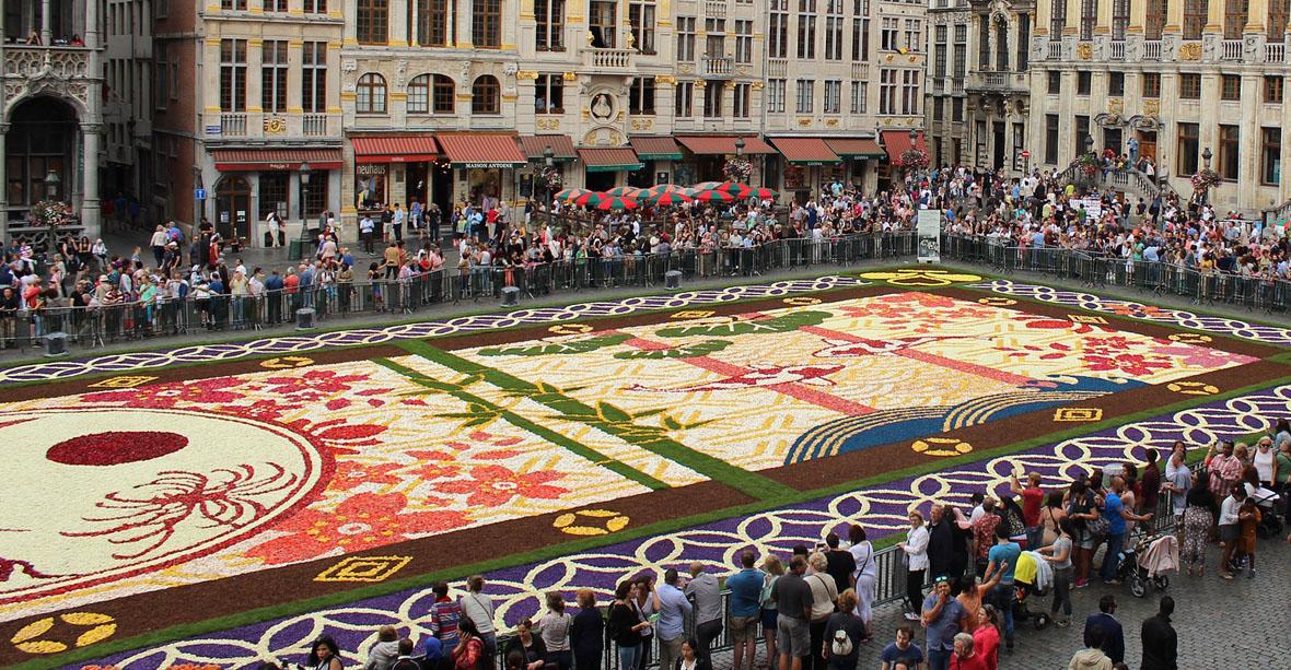 Bruxelles - Tapis de fleurs