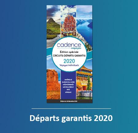 Départs garantis 2020 - brochure